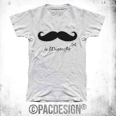 T-SHIRT DONNA MUSTACHE BAFFI CUT HIPSTER DANDY CHIC WHY SO VINTAGE NE0085A