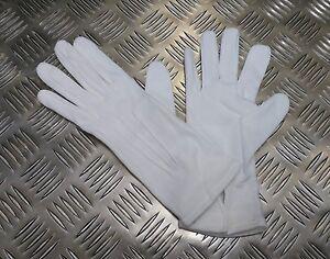 Genuine-British-Military-3-Dart-White-Womans-Cotton-Parade-Ceremonial-Gloves-NEW
