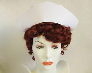 OFFICIAL US NAVY REGULATION UNIFORM COSTUME NURSE CAP HAT WHITE ADULT AUTHENTIC