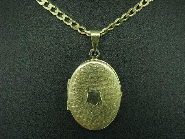 925 silver Kette & 835 silver Anhänger   Medaillon   Vergoldet   41,1cm