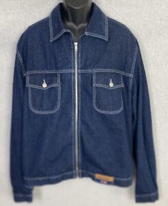 Coogi-Australia-Mens-Denim-Vintage-Jean-Jacket-Size-XL-Full-Zip-Jean-Jacket-NWOT