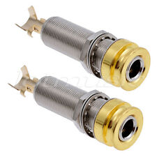 Output Jack Socket For Electric Guitar 1/4 Inch Cylinder End Pin Mono Pack of 2