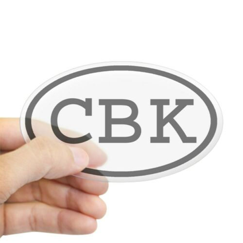 CafePress CBK Oval Oval Sticker Sticker Oval 143040371