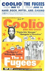 RAP-HIP-HOP-POSTER-COOLIO-amp-THE-FUGEES-Las-Vegas-Hard-Rock-Hotel-amp-Casino-11x17