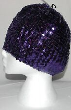 Viola Paillettes BASCO CAPPELLO BERRETTO DISCOTECA DIVA Fancy Dress Party Costume cappucci