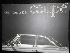 Prospekt Sales Brochure Ford Taunus 12 M Coupe Technische Daten 1,5 Liter Motor