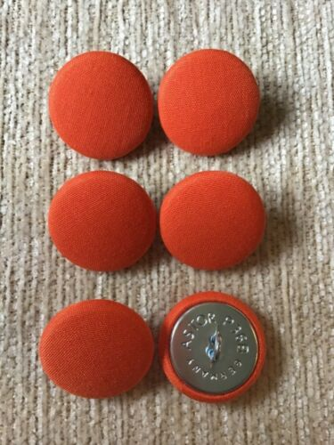 Bright Orange 36L//23mm Fabric Covered Loop Back Buttons Craft Sewing Upholstery