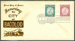 1959-Philippines-HONORING-CITY-OF-BACOLOD-First-Day-Cover-A