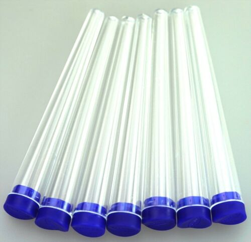 Futurola konische Hüllen 11cm Zigarettenhüllen transparent Deckel dunkelblau