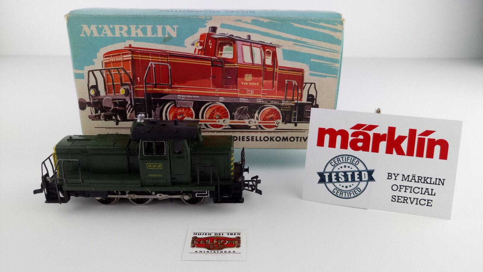 MARKLIN HO 3069 - DIESEL-LOK ABR SNCB - TESTADA - MUY BUEN ESTADO - OVP - TOP
