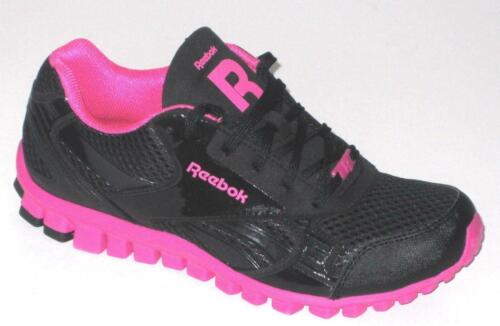 Womens REEBOK CL FLEX INFERNO Black Pink Trainers J98778