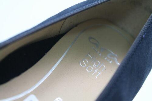 cuir à nubuck à bleu nœuds véritable coussin d'air Ara Ballerinas G en Chaussure FqxwEB8A1