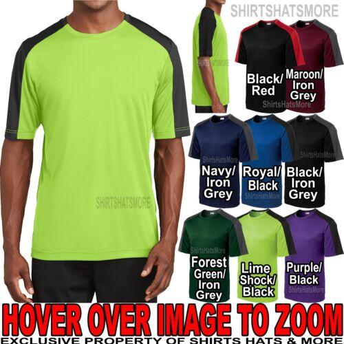 3XL 2XL Mens Moisture Wicking T-Shirt Two Tone DriFit Athletic XS-XL 4XL NEW!