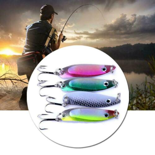 4Pcs//Set Colorful Trout Spoon Metal Fishing Lures Spinner Baits Tackle G5L1