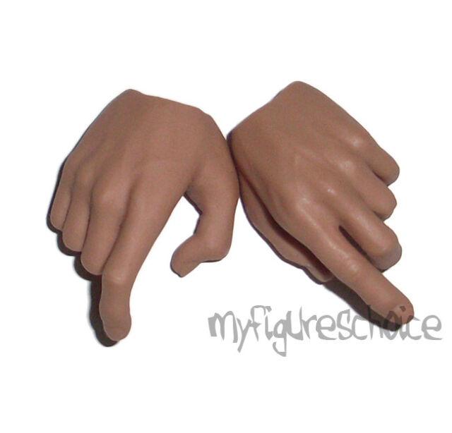 """HOT TOYS Hands #01 1:6 Truetype Silm Version /""""Caucasian/"""" TTM09"""