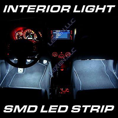 "LED W5 WHITE 2X BIG 12SMD 12"" INTERIOR STRIP FOOTWELL LIGHT DASH BULB EXTERIOR d"