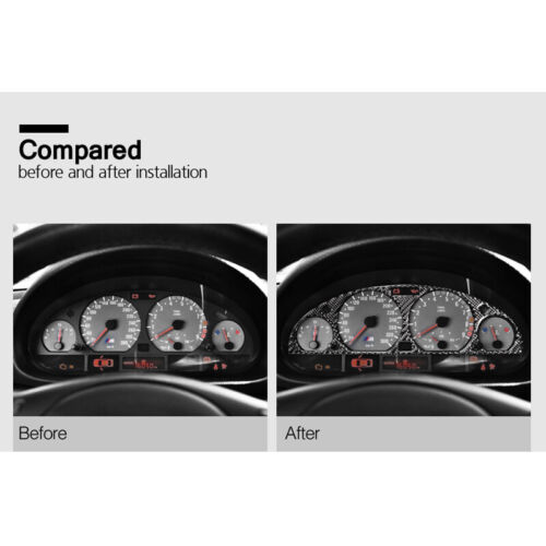 Carbon Fiber Car Instrument Panel Screen Cover Special for BMW Old 3 E46 1999 CW
