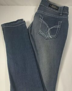 46030525ef7a23 UWD Womens Blue Denim Distressed Faded Jeans Sz 1 Skinny Stretch ...