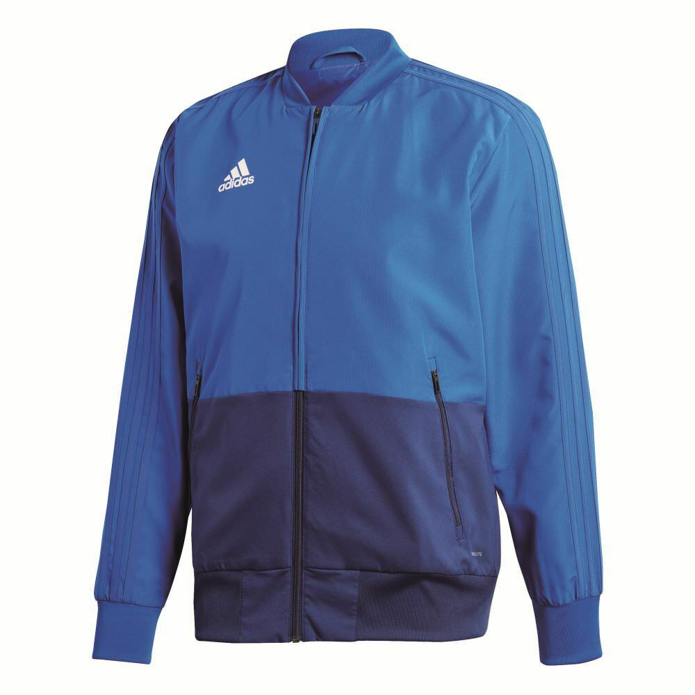 Adidas mannens Sports Football Soccer Jasje Lange mouw Full Zip Tracksuit Top