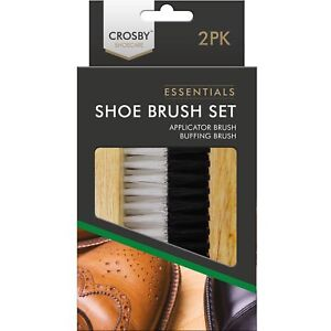 2pc-Traditional-Crosby-Boot-Shoe-Brush-Polish-Buffing-Buff-Leather-Clean