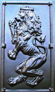 """Right Face Fast Ship Giant Mold 19/""""x34/""""x2/"""" Scottish Rampant Lion Wall Plaque"""