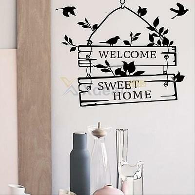 Welcome Sweet Home Removable Art Mural Vinyl Decal Wall Stickers Home Decor DIY