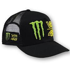 VR46 Valentino Rossi MotoGP Monster Energy Flat Visor Trucker Cap Black