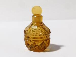 Antique Amber Glass Perfume Bottle