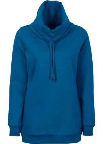 40//42-k341-979521 Lassista LONG SWEAT Pullover con cordino in blu-Tg