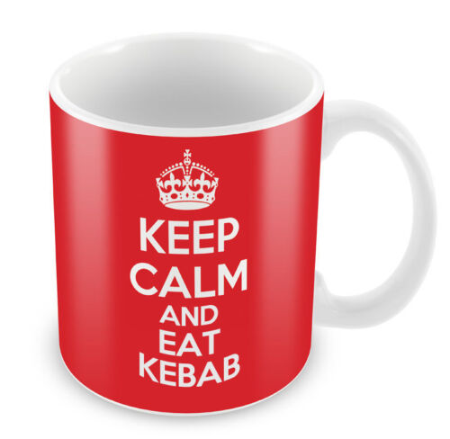 Coffee Cup Gift Idea present takeaway KEEP CALM and Eat Kebab