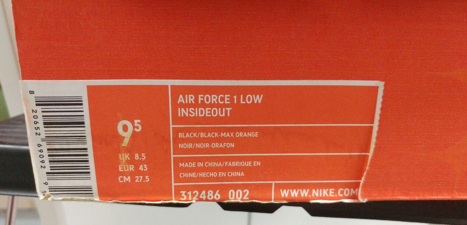 Ds für nike nike nike air force 1 niedrig insideout 312486-002 2006 schwarz - rot männer 9,5 35182e