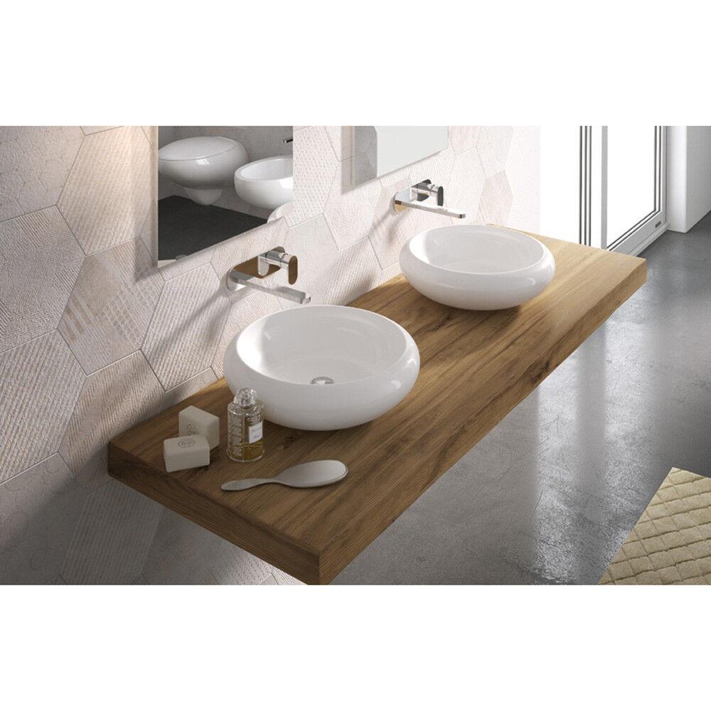Lavandino Lavabo Appoggio Serie Tao in ceramica blanc - 2 misure