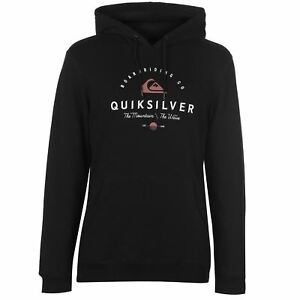 Quiksilver-Edmore-Hoody-Mens-Black-Hooded-Top-Sweater-Outerwear