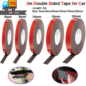 Double Sided Foam Tape Number Plates Car Permanent Adhesive Sticky Strong 10M T5