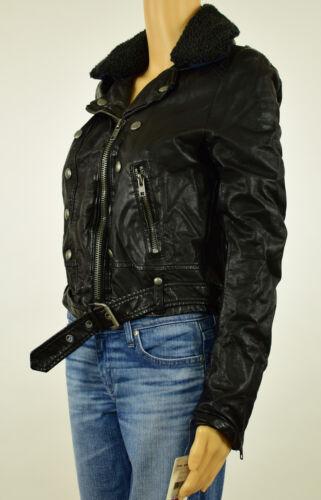 Ashville Sort Kvinder S Xs M Folk Gratis Læder Faux Moto Jakke qR6ExFf