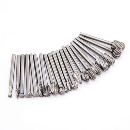 20x Rotary Burr Set Head Tungsten Carbide Burrs 1//8/'/' Shank Die Grinder Bit Tool