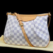AUTH LOUIS VUITTON Siracusa PM Shoulder Bag Damier Azur Leather WE N41113 17F335