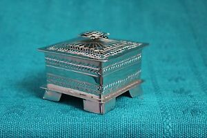 Lovely Hand Made Alpaca Nickel Sliver Box with Turtle on Lid, Mexican Folk Art