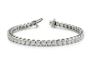 18Carat-White-Gold-Diamond-Rubover-Tennis-Bracelet-2-00-carats-7-25-034-Inches-GH-SI