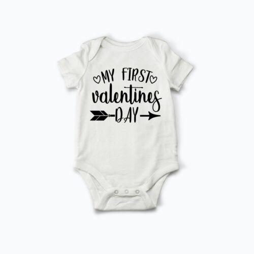 Mon 1st Premier ST-VALENTIN VALENTINE/'S 2019 Baby/'s First Baby Grow Body Vest