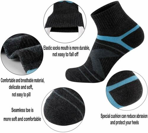 Aserlin Mens Athletic Ankle Socks Performance Cotton Cushioned Colorful Socks fo