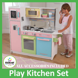 Wooden Kitchen Playset With Cordless Phone And A Chalkboard For Writing KidKraft