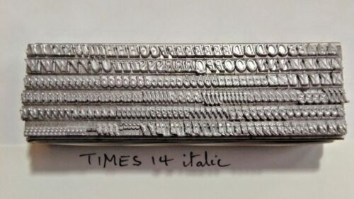 14 point TIMES ITALIC 3A Letterpress Metal Printing Type