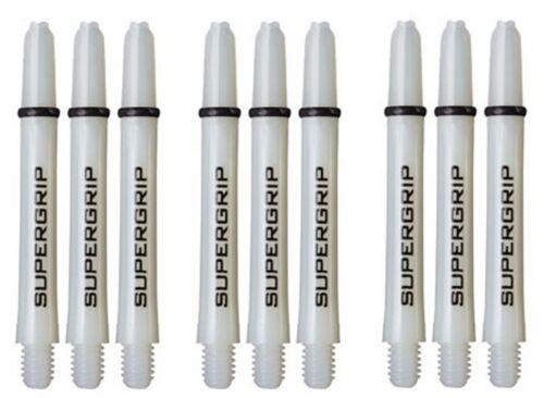 "9 Shafts White 3 Sets Harrows SuperGrip Midi 1.75/"" 2BA Dart Shafts w// Rings"