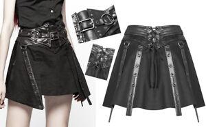 Jupe-gothique-punk-lolita-guerriere-cyber-sangles-ceinture-lacage-sexy-PunkRave