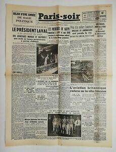 N686-La-Une-Du-Journal-Paris-soir-20-avril-1943-le-president-Laval