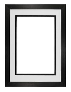 Black Or White Matt Picture Frame Photo Frames With Real Glass