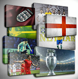 Image Is Loading Choose Your FOOTBALL Euro World Cup SPORT CANVAS