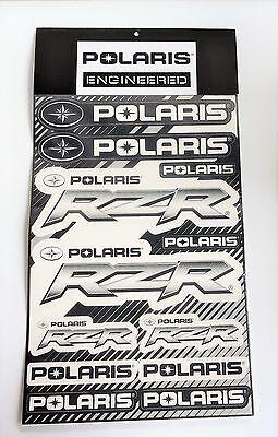 Polaris RZR Razor sticker sheet black and white 2866261