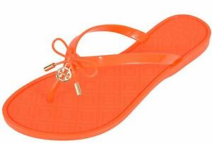 4e80785595c Tory Burch Women s POPPY Jelly T Logo Bow Tie Thong Sandals Shoes ...